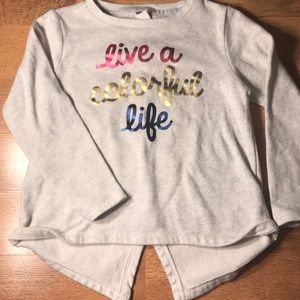Girls Knit Long Sleeve Graphic